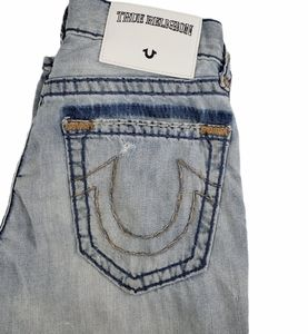 True Religion Distressed Relaxed Slim Jeans